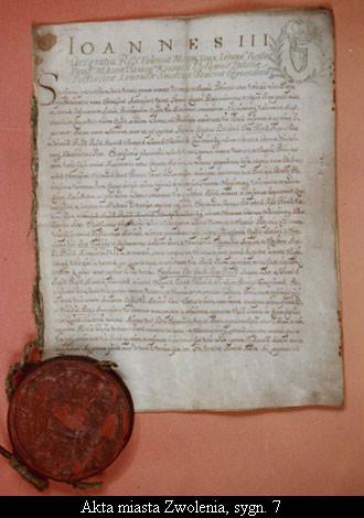 Akta miasta Zwolenia, sygn. 7