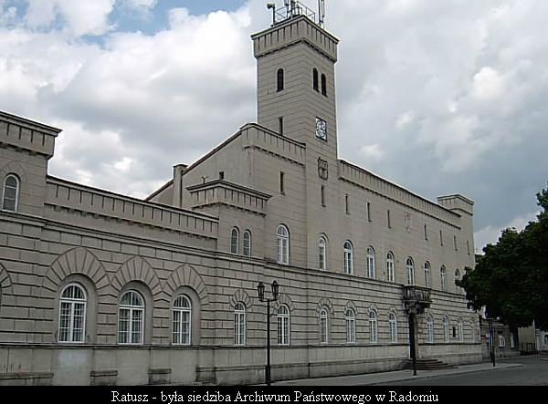 Ratusz - była siedziba Archiwum Państwowego w Radomiu